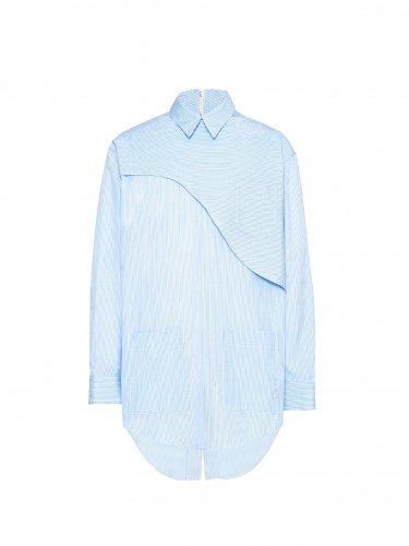 BACK ZIPPED SHIRT BLUE STRIPE