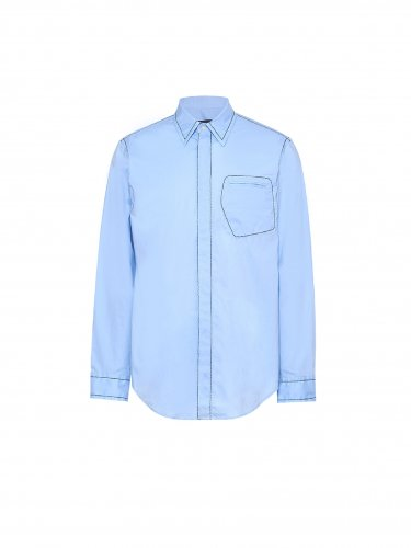 CONTRAST STICH SHIRT BLUE