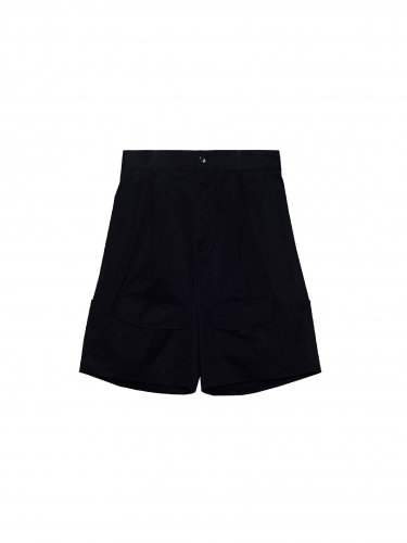 ROLL-UP POCKETS SHORTS BLACK