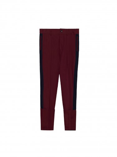 SIDE LINED TROUSER BURGANDY