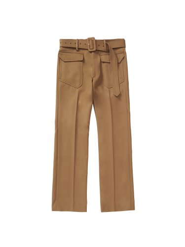 BELTED STANDARD TROUSERS BROWN