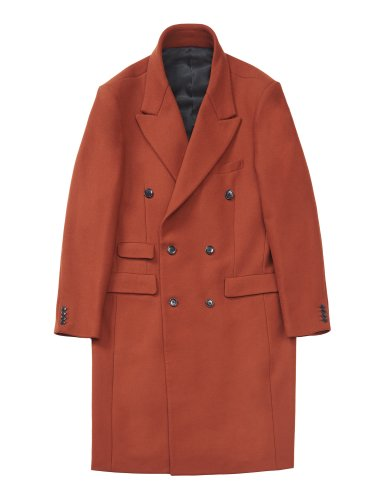 DOUBLE BREASTED CHESTERFIELD COAT ORANGE