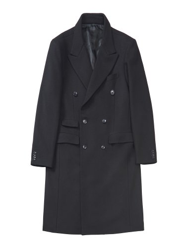 DOUBLE BREASTED CHESTERFIELD COAT BLACK