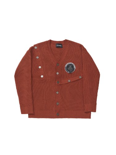 CONSTRUCTOR PATCHED CARDIGAN ORANGE