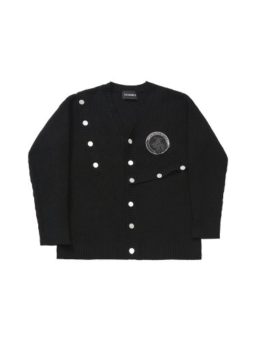 CONSTRUCTOR PATCHED CARDIGAN BLACK