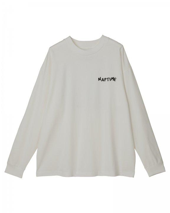フォトプリントLONG T-SHIRTS-WHITE