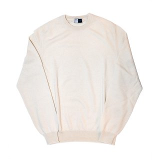 cashmere crew neck knit WHITE