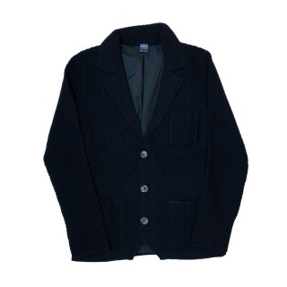 lana wool knit jacket NAVY