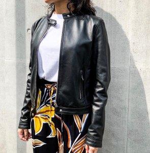 TAGLIATORE Lamb leather jacket black