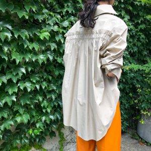 BAGUTTA back frill shirt beige