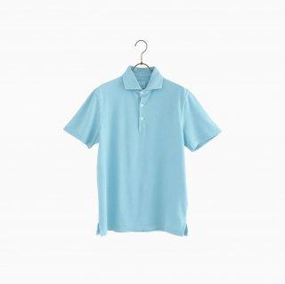 cotton polo shirt TURQUOISE