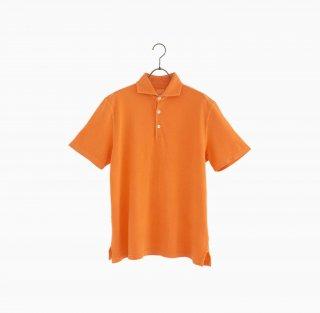 cotton polo shirt ORANGE