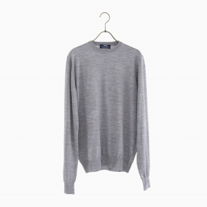 lana140 wool crew neck knit GREY