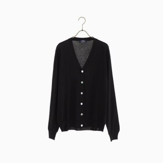 lana140 wool cardigan BLACK