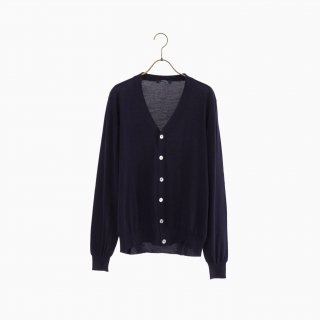 lana140 wool cardigan NAVY