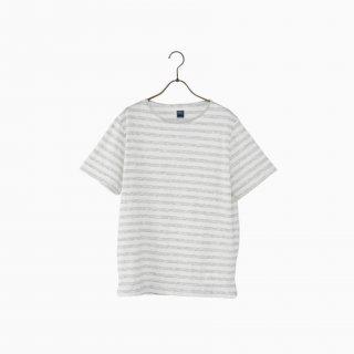 cotton border t-shirt GREY