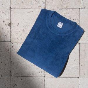 cotton pile t-shirt INDIGO