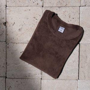 cotton pile t-shirt BROWN