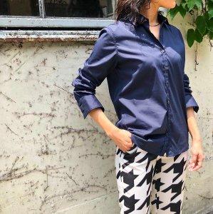 BAGUTTA per Rita regular color shirt navy