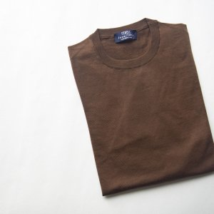 lana140 wool crew neck knit BROWN