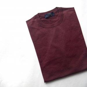 lana140 wool crew neck knit WINE-RED