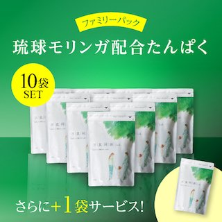 【ファミリーパック10袋+1袋】医食同源Lab 琉球モリンガ配合たんぱく 400g