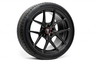 Tesla Model 3 19 Falcon LE Flow Forged Tesla Wheel and Tire Package(Set of 4)【Ecliptic Black】