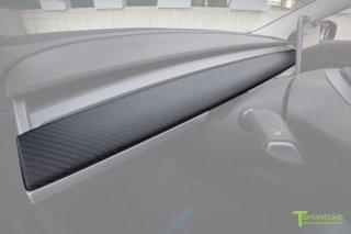 Tesla Model 3 Carbon Fiber Dash Panel