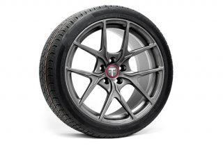 Tesla Model 3 19 Falcon LE Flow Forged Tesla Wheel and Tire Package(Set of 4)【Moonrock Gray】