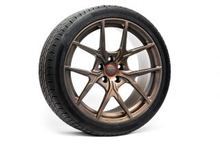 Tesla Model 3 19 Falcon LE Flow Forged Tesla Wheel and Tire Package(Set of 4)【Jupiter Bronze】