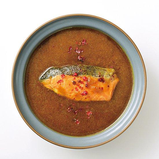 石巻金華牡蠣スープカレー盛り付け