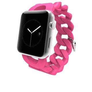 【Apple Watch 用交換バンド】 アップル ウォッチ 6,SE,5,4,3,2,1(38mm/40mm) 用バンド Turnlock Shocking Pink