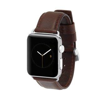 【上質な本革を使用した交換用バンド】Case-mate Apple Watch 6,SE,5,4,3,2,1(42mm/44mm) band - Signature Leather - Tobacco