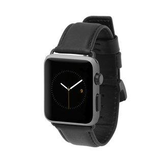 【上質な本革を使用した交換用バンド】Case-mate Apple Watch 6,SE,5,4,3,2,1(42mm/44mm) band - Signature Leather - Black