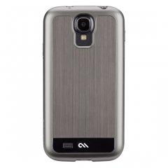 【金属調のハードケース】 Galaxy S4 docomo SC-04E Brushed Aluminum Case Gunmetal / Black