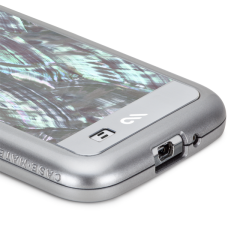【高級感溢れる真珠貝を使用】 Galaxy S4 SC-04E Pearl Case Silver (美しいハードタイプケース)