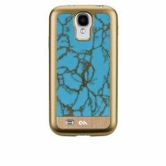【天然石を使用した高級ケース】 Galaxy S4 SC-04E Crafted Case Gemstone Turquoise / Gold