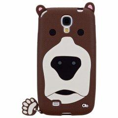 【かわいいクマのソフトケース】 Samsung GALAXY S4 docomo SC-04E Creatures: Grizzly Brown