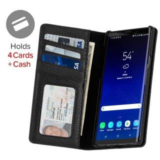 【カードや紙幣が収納できる手帳型ケース】Galaxy Note9 Wallet Folio-Black
