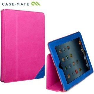 【本革使用のブックスタイルケース】 iPad2〜4世代 Colorblock Slim Stand Pink/Marine