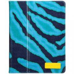 【キャンバス使用のブックスタイルケース】 iPad 2〜4世代 Slim Stand Canvas Emerald Zebra