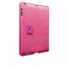 【エイ革風加工のブックスタイルケース】 iPad 2〜4世代 Slim Stand Stingray Lipstick Pink
