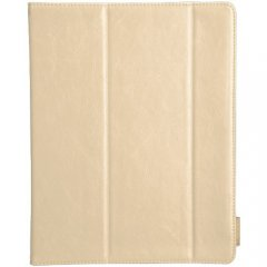 【横開きブックスタイルケース】 iPad 2〜4世代 SlimFrame Case Ivory / Tan