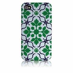 【衝撃に強いデザインケース】 iPhone 4S/4 Hybrid Tough Case Cinda B - Sweetleaf Navy