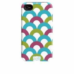 【衝撃に強いデザインケース】 iPhone 4S/4 Hybrid Tough Case Clairebella - Fiesta Scoop II