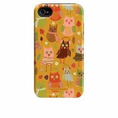 【衝撃に強いデザインケース】 iPhone 4S/4 Hybrid Tough Case Cosy Forest/Fall Owls