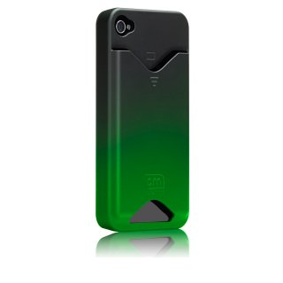 【ICカードが収納可能なハードケース】 iPhone 4S/4 ID Case Matte Royal Green