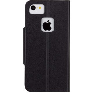 【iPhone5c ケース スタンド機能付きスリムな手帳スタイルケース】 iPhone 5c Slim Folio Case Black