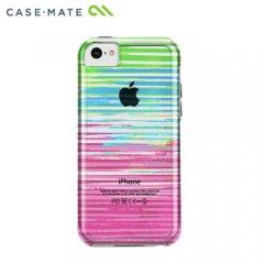 【衝撃に強いケース】 iPhone 5c ハイブリッド タフ ネイキッド プリント ケース ストライプ