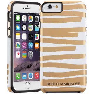 【iPhone6s/6 ケース レベッカ・ミンコフ】 iPhone6s/6 Hybrid Tough Print REBECCA MINKOFF City Stripes